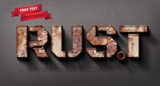 Rusty Metal Text Style Photoshop Tutorial - Photoshop tutorial | PSDDude
