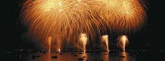 The legendary New Year's Eve fireworks display in Zurich, Switzerland