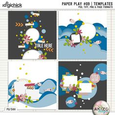 Paper Play #09 | Templates by Akizo Designs - For Digital scrapbooking layout