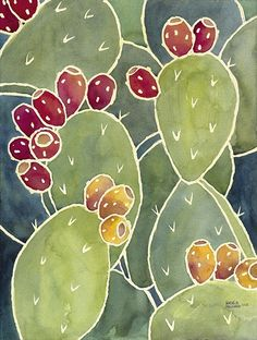 Prickly Pear Cactus Painting Number 3