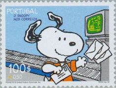 Snoopy postage stamp - Portugal