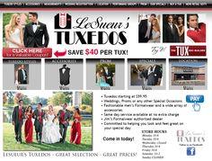 Visit LeSueur's Tuxedos for all your formal Men's wear!
