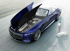 Mercedes Maybach 6 - Vision Mercedes Maybach 6 Cabriolet is 20 feet of electric drop top luxury. The Vision Mercedes-Maybach 6 Cabriolet is a car with sensua. Mercedes Benz Maybach, Van Mercedes, Maybach Car, Maybach Music, Mercedes Concept, Maserati, Bugatti, Automobile, Bmw Autos