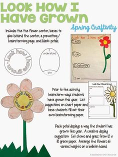 A Spring craftivity for the classroom where students can reflect on all that they have learned throughout the year.