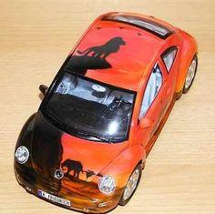 modellauto new beetle mit airbrush