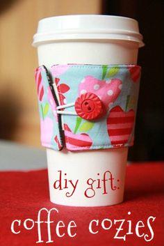 DIY Coffee Cozies... Super cute!