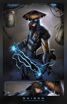 """finish her"" Mortal Kombat - Raiden by Rob Duenas Raiden De Mortal Kombat, Art Mortal Kombat, Comic Character, Game Character, Lord Raiden, Cartoon Movie Characters, Mortal Combat, Mileena, Geek Games"