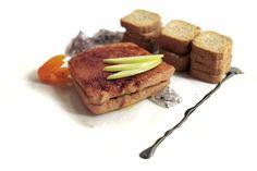 Sandwich de foie con mermelada de violetas