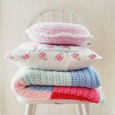 hopscotch lane: Patchwork Crochet Blanket