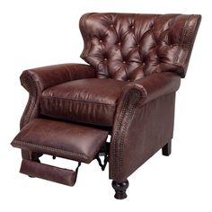 Chad's leather recliner with the style I like: Opulence Home Cambridge Recliner & Reviews | Wayfair