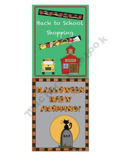 This download contains a bundle of 8 different themed Shopping Centers that you can use throughout the year. These centers can also be purchased individually. Each shopping center is a fun manipulative Math center that gives practice with adding, subtracting, money counting, and making change.  $25