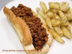 Les plats cuisinés de Esther B: Pain hot dog fourré à la sauce Michigan