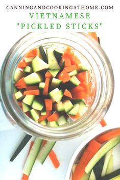 """Vietnamese """"Pickled Sticks"""" by Canning and Cooking at Home #food #pickled"""