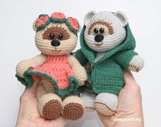 Amigurumi honey teddy bears in love - FREE PATTERN