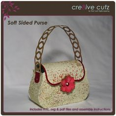 Soft Sided Paper Purse SVG Cutting File