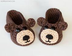 http://www.hopefulhoney.com/2015/09/teddy-bear-baby-booties-crochet-pattern.html