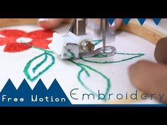 Class 50: How to use Free Motion Embroidery Foot for beginners - Brother GS2700 - YouTube