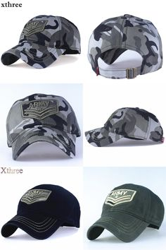 9ae886b1bc509 Xthree camouflage baseball cap Letter army snapback Hat for men Cap gorra  casquette dad hat Wholesale-in Baseball Caps from Men s Clothing    Accessories on ...