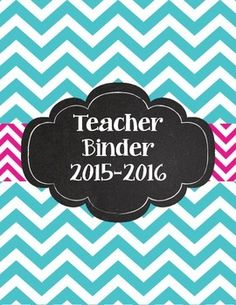 """Bright Chevron Teacher Binder for 2015-2016There are two versions: Purple/Lime Green and Pink/Teal. You can use all of one color or mix and match. Includes: Cover 2015-2016AttendanceProfessional DevelopmentIEPs & 504sParent ContactsSub PlansCalendars and SchedulesFaculty Meeting NotesLesson PlansMathScienceSocial StudiesEnglish/Language ArtsWritingBenchmarksCommon CoreTo Do Lists...ObservationsTwo blank sheets for your own needs 2"""" and 3"""" spines to match each color option"""