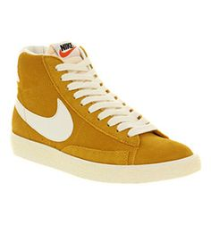 Nike BLAZER HI SUEDE VINTAGE GOLD DART SAIL Shoes - Nike Trainers - Office Shoes