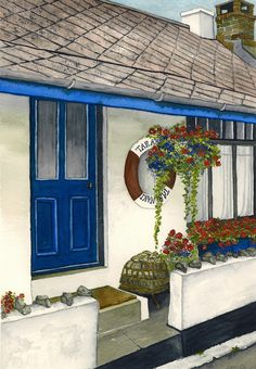 Porthallow fishermans Cottage Fishermans Cottage, Acrylic Paintings, Watercolor, Drawings, Pastel, Pen And Wash, Watercolor Painting, Watercolour, Drawing