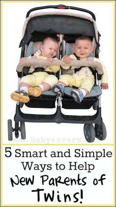 5 smart and simple ways to help new parents of twins   babysavers.com