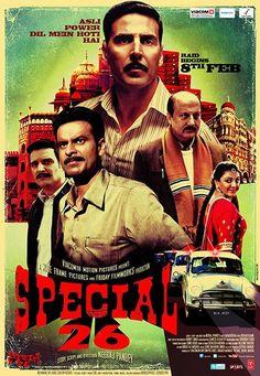 Manoj Bajpayee, Anupam Kher, Akshay Kumar, and Jimmy Sheirgill in Special Chabbis Akshay Kumar, Ranveer Singh, Mumbai, Local Movies, Movies Free, Thriller, Special 26, Anupam Kher, Best Action Movies