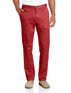 #LouisRaphael Men's Slim Fit Flat Front Garment Dye Pant in Red Clay! #Style