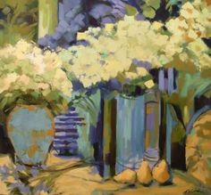 Blue Vases with Pears by Antonia Walker