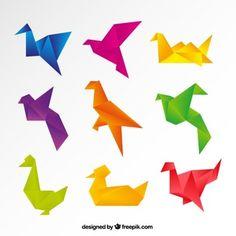 Origami Birds Vectors Software Development Oragami Free Vector Art Recycling