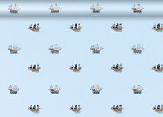 Pirate Ships Wallpaper  This delightful wallpaper with its colourful pirate ships motifs is perfect for both nurseries and childrens rooms. Complete the look with our matching Treasure Island print bedding and fabric. www.furnitureanddesignla.snappages.com/home