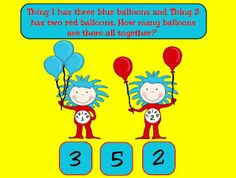 Addition and Subtraction stories for Promethean Board