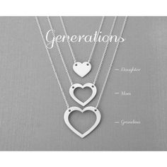 Generations Gold Necklace (325 MYR) ❤ liked on Polyvore featuring jewelry, necklaces, heart shaped necklace, gold heart necklace, gold heart shaped necklace, gold necklace and gold heart jewelry