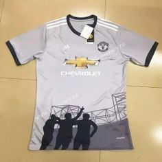 3f8c1716eac 2017-18 Manchester United 2nd Away Gray Thailand Soccer Jersey Cool Football  Boots