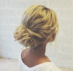 Messy Updo Wedding Hairstyle | fabmood.com #weddinghair #bridalhair #hairstyle #updo #upstyle #braidupdo #hairstyleideas #hairstyles #bridalhairstyle #weddinghairstyles