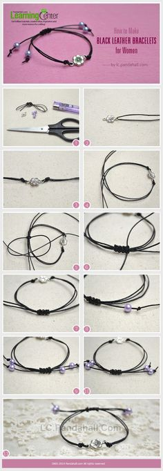 How to Make Black Leather Bracelets: