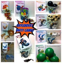 skylander birthday party ideas | Skylanders Giants Party Games | @PluckingDaisy #SkylandersGiants # ...