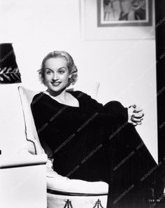 beautiful as always Carole Lombard seated portrait 712-17