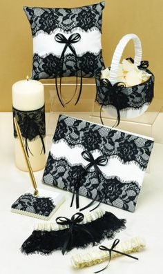 cute for a black and white wedding