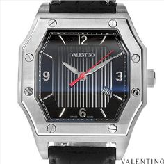 $249.00  Valentino! Prestige Collection Made in Switzerland Luxurious Brand New Stainless Steel Gentlemens Watch with Genuine Crocodile Leather Strap. Certificate Available.