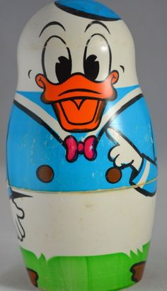 Disney Donald Duck Nesting Dolls Walt Disney Production Full Family Dolls
