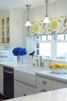 Really like this kitchen. Looks clean! Love th lemons and roman shade. by…
