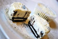 Oreo Cookies and Cream Cheesecakes.. made these today!  Half recipe makes 24 mini cheesecakes in a Mini Cheesecake Pan with removable bottoms.  Wish I didn't have so many in this little RV with just the two of us!