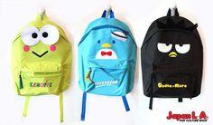 Tuxedosam and Badtz-Maru and keroppi back packs!