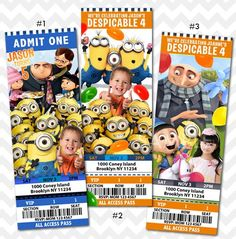 Free Printable Despicable Me Birthday Invitations