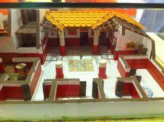 Maqueta de una villa romana. Museo de Ulia, Montemayor