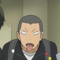 Anime Meme, Manga Anime, Funny Anime Pics, Funny Photos, Tanaka Haikyuu, Haikyuu Karasuno, Haikyuu Funny, Yamaguchi, Tanaka Ryuunosuke