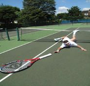 Comedy Tennis themed entertainer for hire in London and the UK