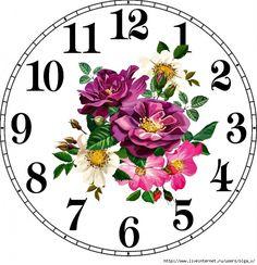 Фотография Clock Art, Diy Clock, Clock Face Printable, Clock Flower, Unusual Clocks, Face Images, Christmas Snow Globes, Gifts For Office, Decoupage Paper