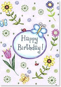 Birthday Card - Hope Today Will Flutter By as Gently as a Butterfly   Barbara Ann Kenney   18762   Leanin' Tree